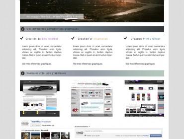 Portfolio-Accueil mj design v1 my first website