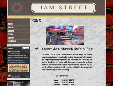 Conception JamStreet website