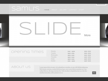 Samlys website - Mockup and prototyping