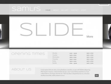 Samlys website - Mockup and prototyping